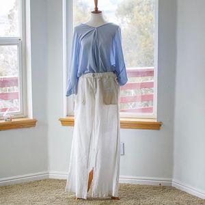 Anthropologie White Linen Trousers Sz 12 NWT